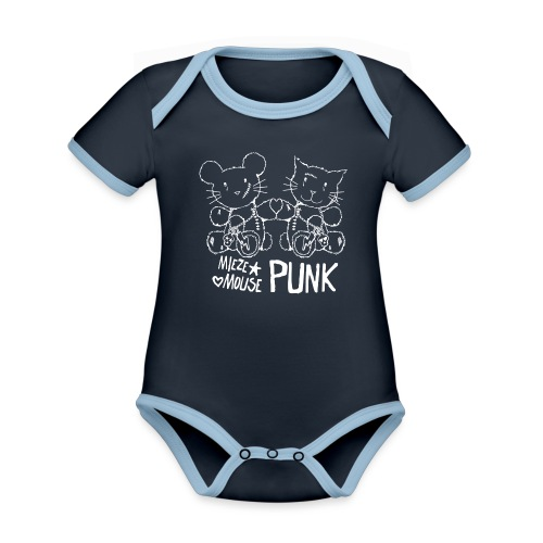 MIEZEMOUSE PUNK GIRLS - Baby Bio-Kurzarm-Kontrastbody