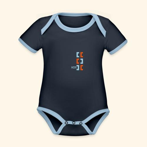 Hoa original logo v2 - Organic Baby Contrasting Bodysuit