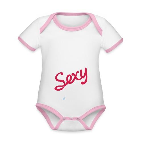 DIGITAL is the New Sexy - Lady - Body da neonato a manica corta, ecologico e in contrasto cromatico
