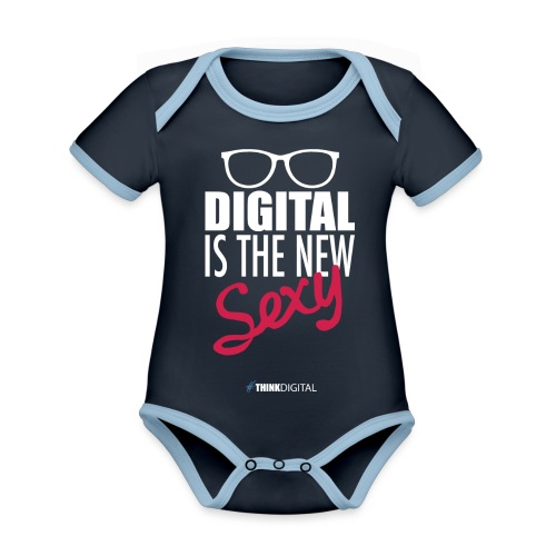 DIGITAL is the New Sexy - Lady - Body da neonato a manica corta, ecologico e in contrasto cromatico