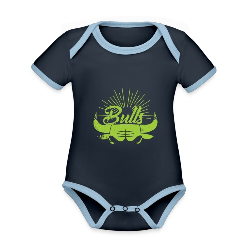 Toros verdes, Bulls BasketBall deporte - Body contraste para bebé de tejido orgánico