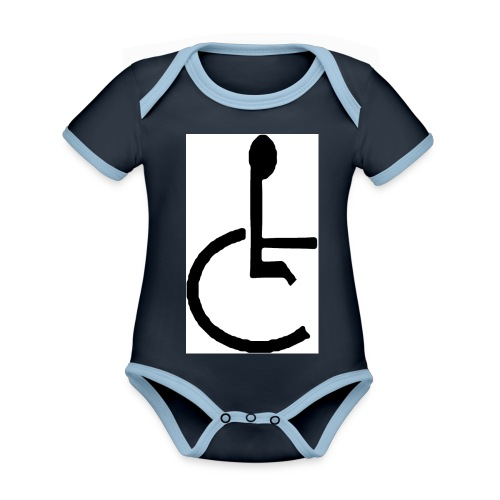 Don't have to get Drunk to Get Legless - Organic Baby Contrasting Bodysuit