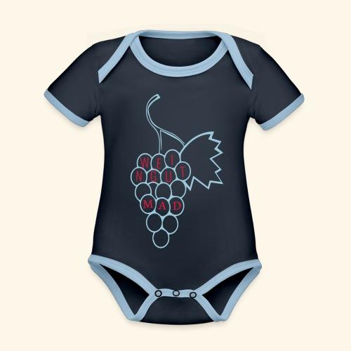 Rote Traube - Baby Bio-Kurzarm-Kontrastbody