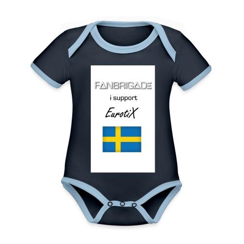 Fanbrigade - Kortærmet økologisk babybody i kontrastfarver