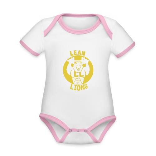 Lean Lions Merch - Organic Baby Contrasting Bodysuit