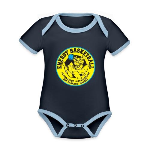 baby energy basketball - Body da neonato a manica corta, ecologico e in contrasto cromatico