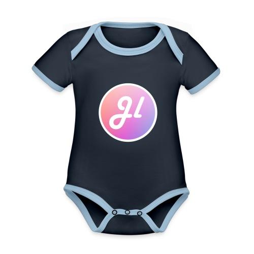 Just Lewis Circle Logo - Organic Baby Contrasting Bodysuit