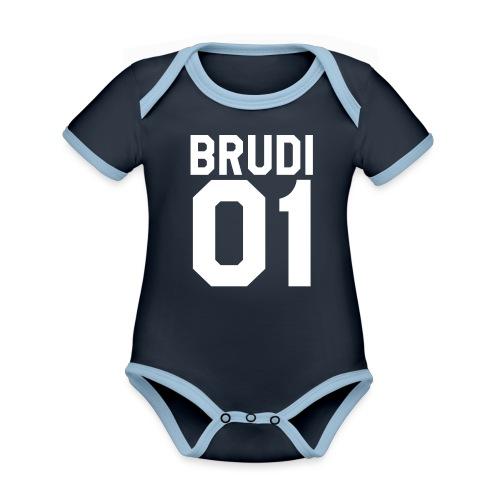 Brudi 01 Geschwister Beste Freunde Partnerlook - Baby Bio-Kurzarm-Kontrastbody