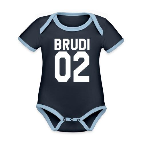 Brudi 02 Geschwister Beste Freunde Partnerlook - Baby Bio-Kurzarm-Kontrastbody