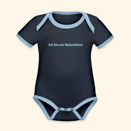 Ich bin ein Naturtalent line - Baby Bio-Kurzarm-Kontrastbody