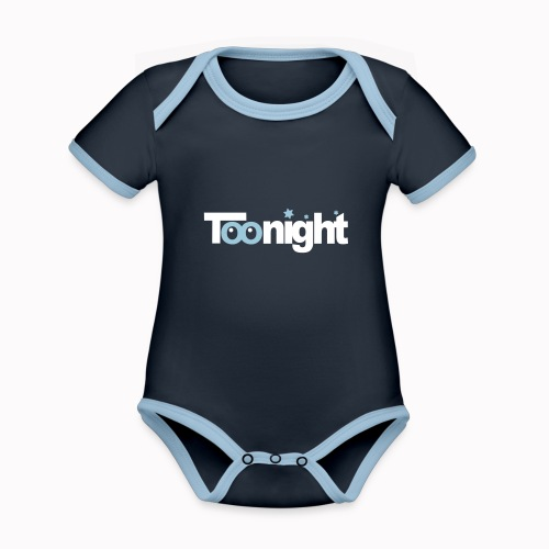 toonight - Body da neonato a manica corta, ecologico e in contrasto cromatico