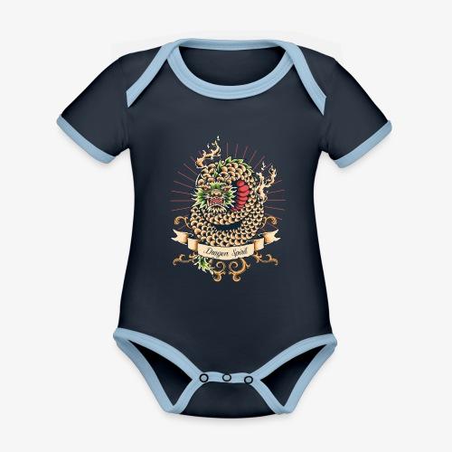 Esprit de dragon - Body Bébé bio contrasté manches courtes