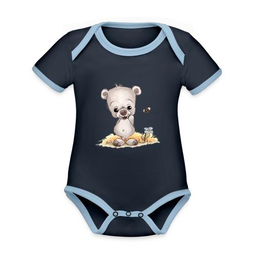 Noah der kleine Bär - Baby Bio-Kurzarm-Kontrastbody
