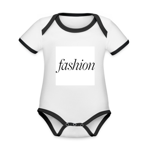 fashion - Baby contrasterend bio-rompertje met korte mouwen