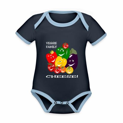 Veggie Family - Cheese! - Organic Baby Contrasting Bodysuit