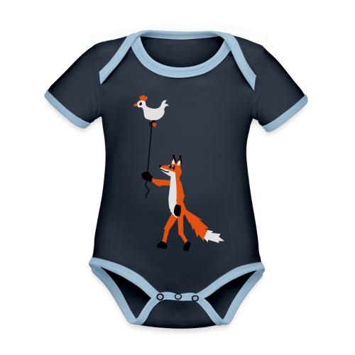 Fuchs und Henne - Baby Bio-Kurzarm-Kontrastbody