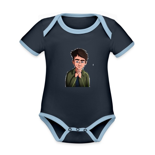 Turtle Vibez Logo - Organic Baby Contrasting Bodysuit
