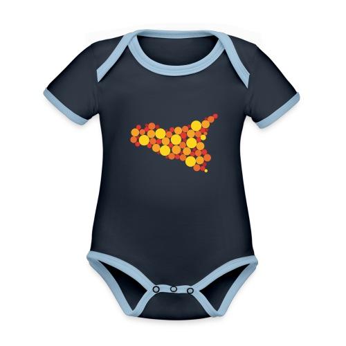 logo sicilia piccolo - Body da neonato a manica corta, ecologico e in contrasto cromatico
