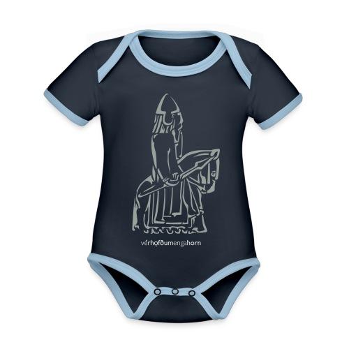 VHEH - Lewis Chessmen big - Organic Baby Contrasting Bodysuit