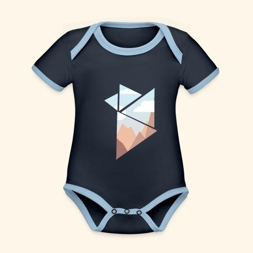 shattered - Ekologisk kontrastfärgad kortärmad babybody