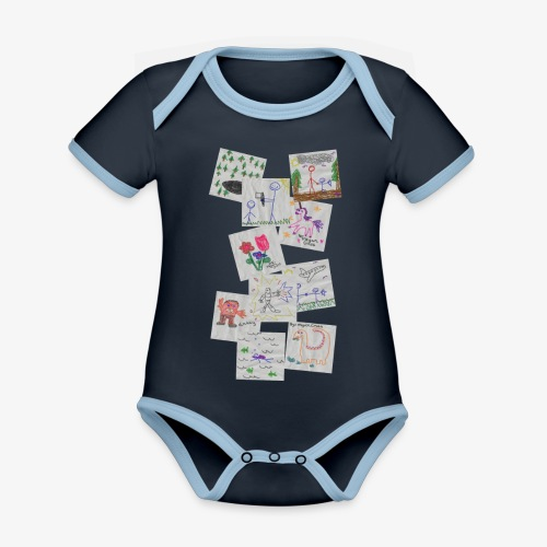 Drawings - Organic Baby Contrasting Bodysuit