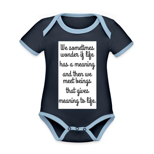 Phrase d'amour en anglais - Body Bébé bio contrasté manches courtes