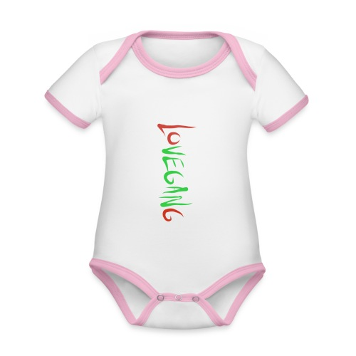 Lovegang - Vauvan kontrastivärinen, lyhythihainen luomu-body