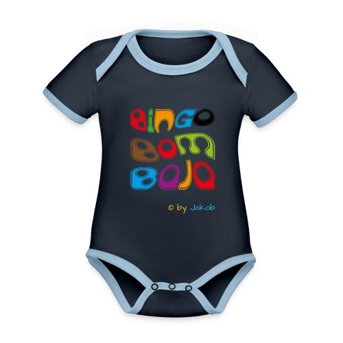 Bingobombaja - Baby Bio-Kurzarm-Kontrastbody