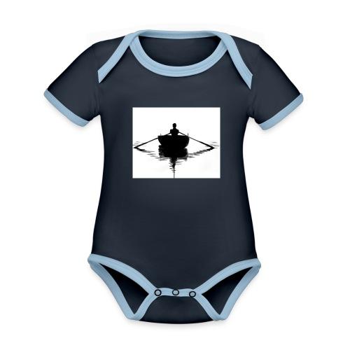 me boat - Organic Baby Contrasting Bodysuit