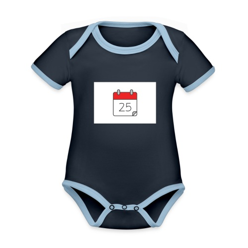 count down - Organic Baby Contrasting Bodysuit
