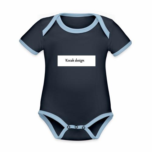 Kocak design - Kortærmet økologisk babybody i kontrastfarver
