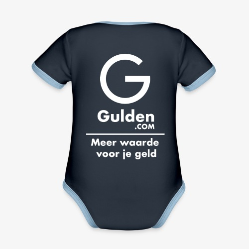 NLG - Gold Cryptocurrency - Early Adopter - Organic Baby Contrasting Bodysuit
