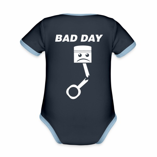 Bad Day - Baby Bio-Kurzarm-Kontrastbody