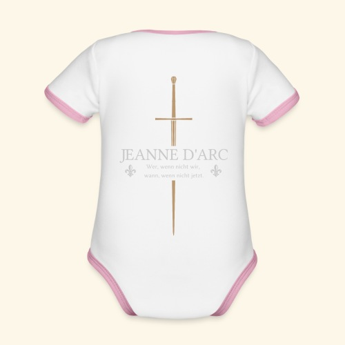 Jeanne d arc - Baby Bio-Kurzarm-Kontrastbody