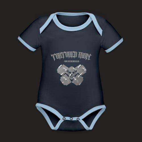 skull - Organic Baby Contrasting Bodysuit