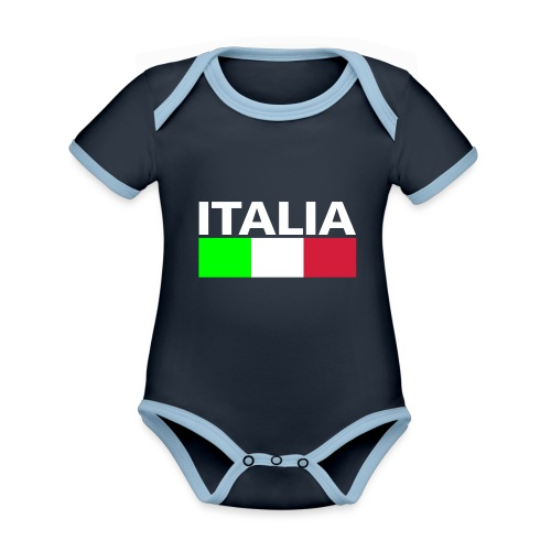 Italia Italy flag - Organic Baby Contrasting Bodysuit