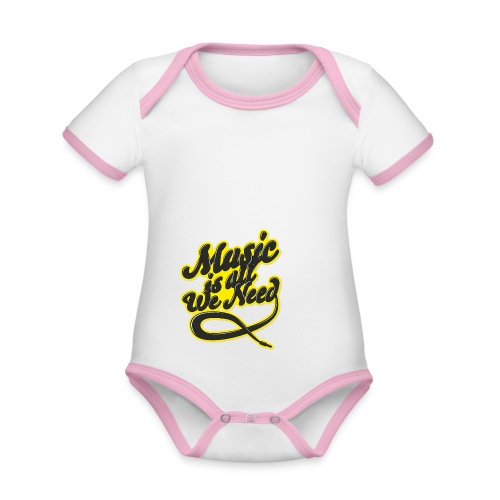 Music Is All We Need - Organic Baby Contrasting Bodysuit