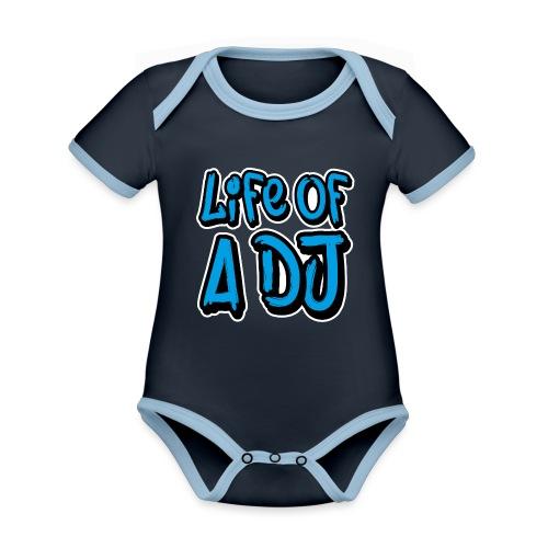 Life of a DJ- Blue - Organic Baby Contrasting Bodysuit