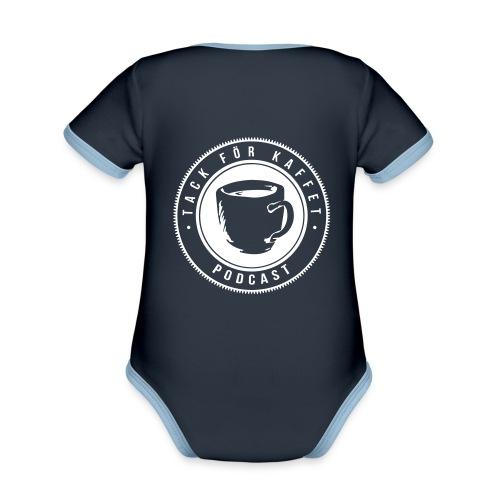 TFK logo - Ekologisk kontrastfärgad kortärmad babybody