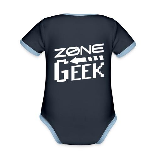NEW Logo Homme - Body Bébé bio contrasté manches courtes