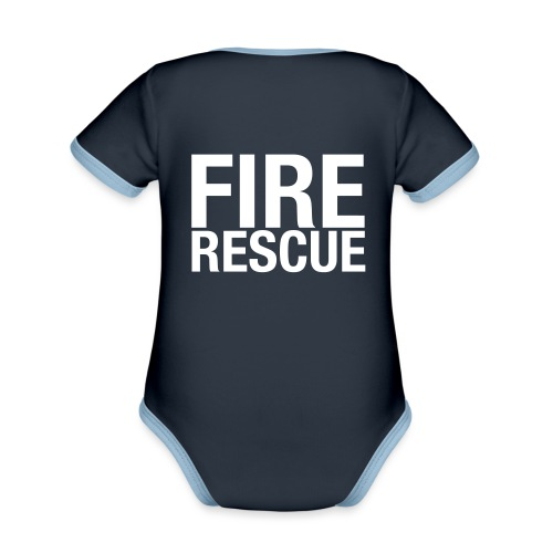 Fire and Rescue - Organic Baby Contrasting Bodysuit