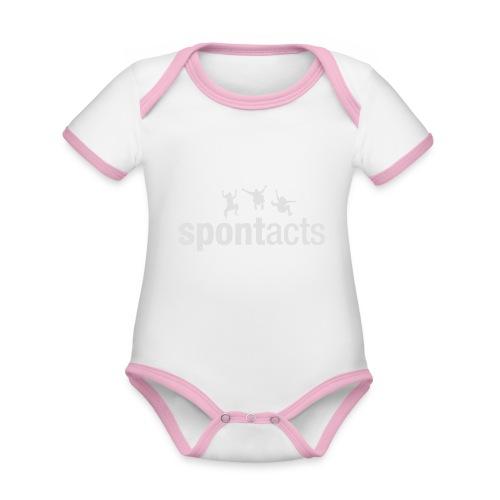 spontacts_Logo_weiss - Baby Bio-Kurzarm-Kontrastbody