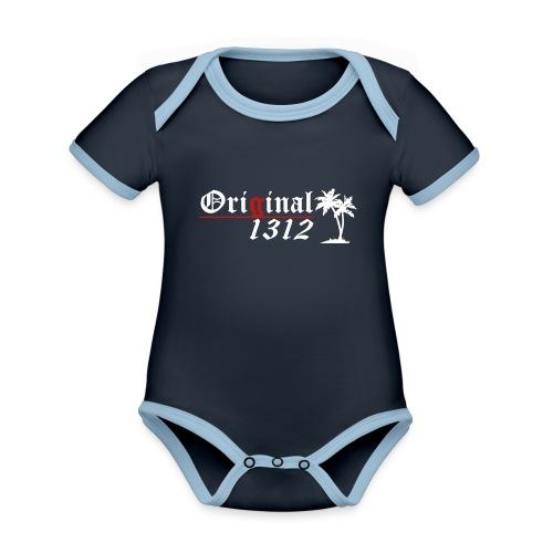 1312 T-Hemd [Druck beidseitig] - Baby Bio-Kurzarm-Kontrastbody