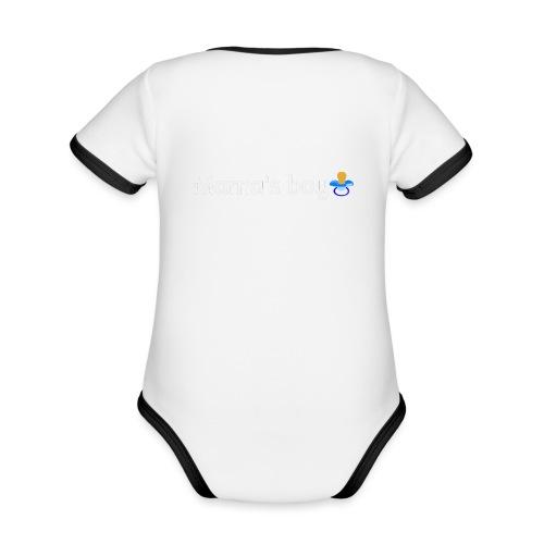 Mama's boy - Organic Baby Contrasting Bodysuit