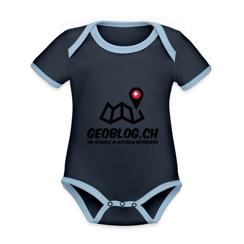 Logo+Schriftzug-hoch - Baby Bio-Kurzarm-Kontrastbody