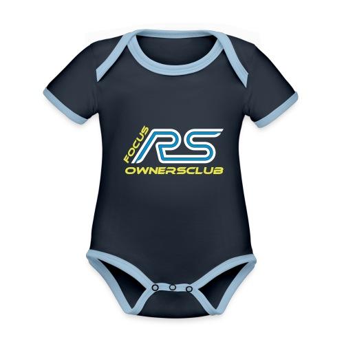 logo focus rs ownersclub shirt cmyk - Baby Bio-Kurzarm-Kontrastbody