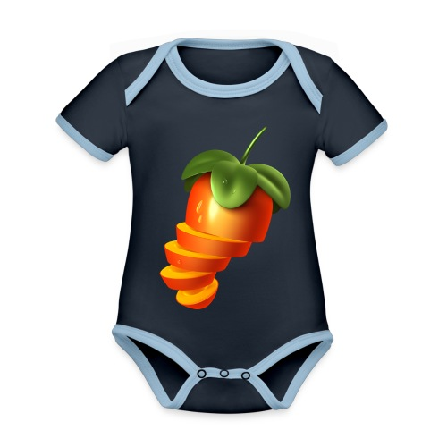 Sliced Sweaty Fruit - Organic Baby Contrasting Bodysuit