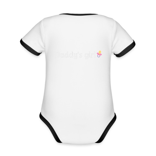 Daddy's girl - Organic Baby Contrasting Bodysuit