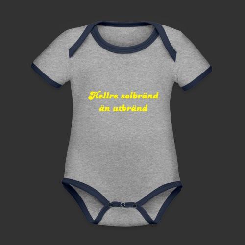 Hellre Solbränd - Ekologisk kontrastfärgad kortärmad babybody