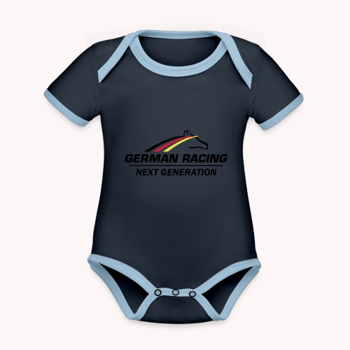 German Racing Next Generation Logo - Baby Bio-Kurzarm-Kontrastbody